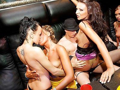 Real college girls seduce a stripper